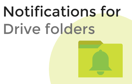 how to receive notifictaion of change in a drive folder