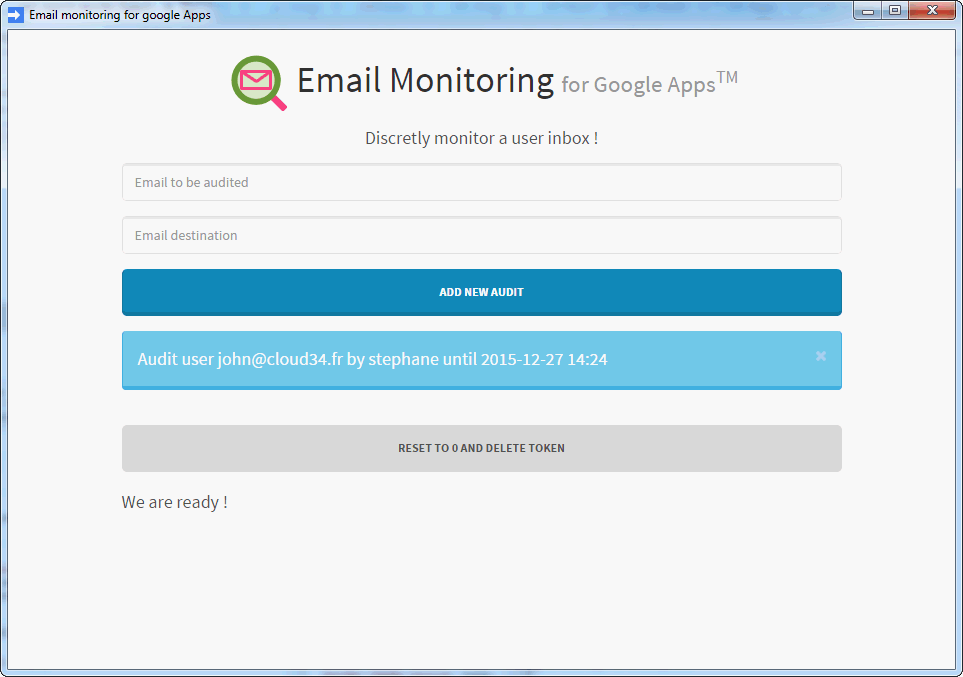 Google apps email monitoring