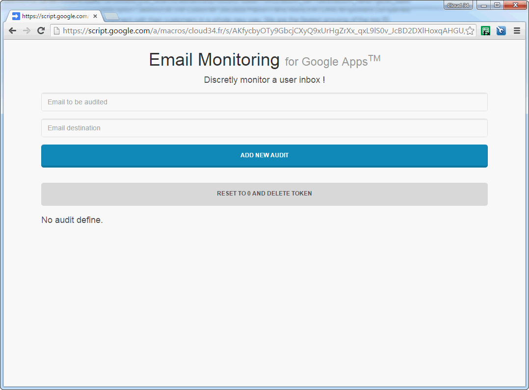 screen monitoring email for google apps domain