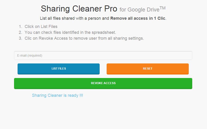 bulk unshare file and folder sahred in drive