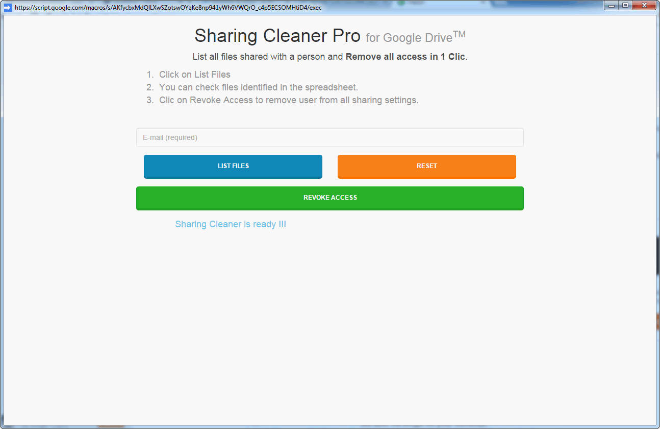 blk unshare files and folders in google drive
