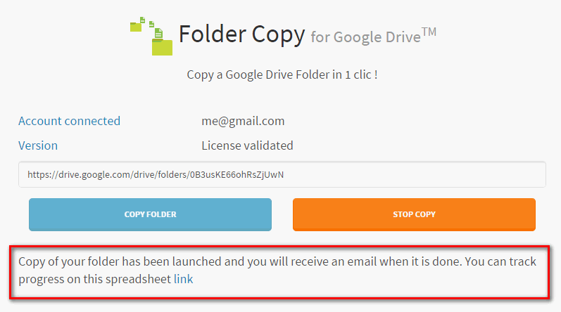google drive folder copy launched