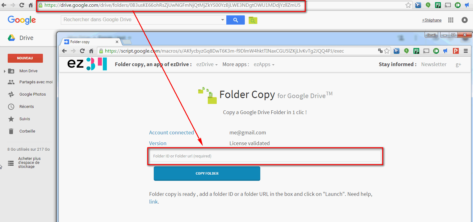 make a copy right form the folder copy app