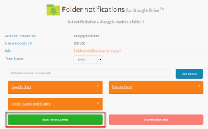 how to start folder notifications application