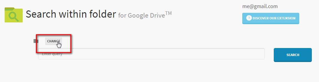 change folder in search within folder