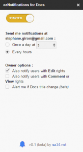 eznotifications add-on to be alerted of title change