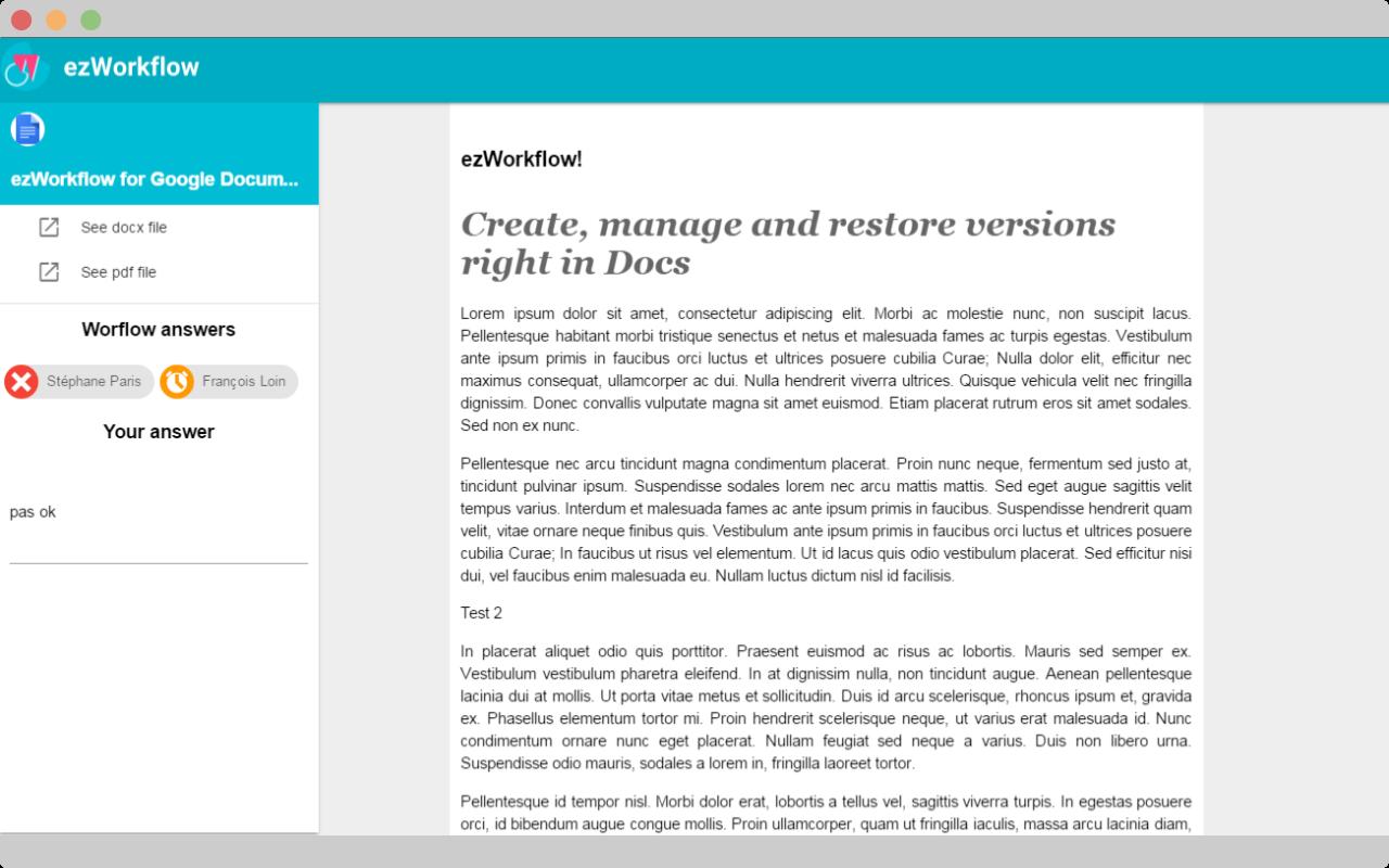 print screen of ezflow webapp
