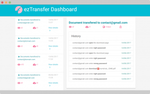 track password attempts on ezTransfer dashboard