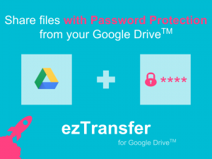 add password to google drive files shared
